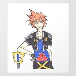 Sora(Kingdom Hearts)  Art Print