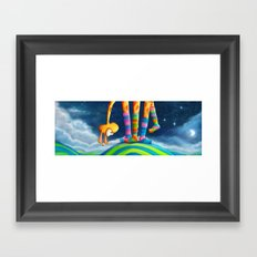Striped Socks - Revisited Framed Art Print