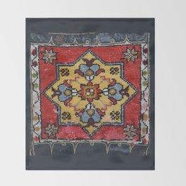 Antique Carpet Sadle Bag Throw Blanket
