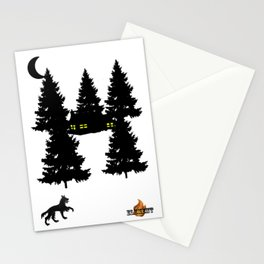 Loup en forêt (Maxime T) Stationery Cards