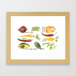 Anna's vegetable market Framed Art Print