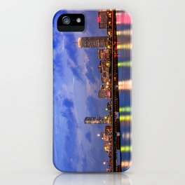 Harvard Bridge, colorful reflection iPhone Case