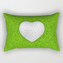 Golf ball heart / 3D render of heart shaped golf ball Rectangular Pillow
