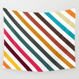 Retro Stripes In Transparent Background, A Set Of Several Vintage Classic Colors, No 01 Wall Tapestry