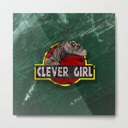 Clever Girl Metal Print