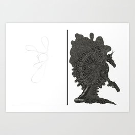 Scribble Drawing: Edelus Tilither Art Print