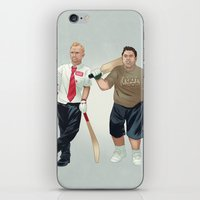 shaun of the dead iPhone & iPod Skins featuring Shaun of the Dead by Dave Collinson