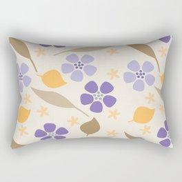 Abstract Violets Rectangular Pillow