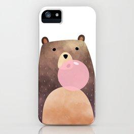Bear gum, nursery print iPhone Case