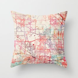Brookfield map Wisconsin WI Throw Pillow
