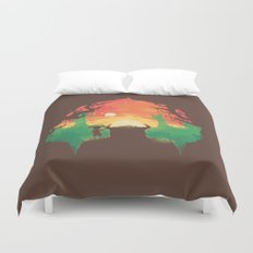 Sunset with a friend Duvet Cover