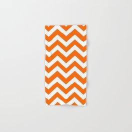 Orange color - Zigzag Chevron Pattern Hand & Bath Towel