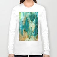 waterfall Long Sleeve T-shirts featuring Waterfall by Rosie Brown