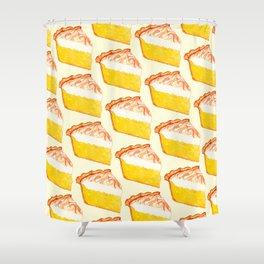 Lemon Meringue Pie Pattern Shower Curtain
