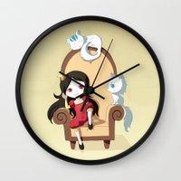 princess Wall Clocks featuring Princess by Freeminds