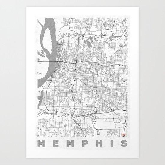 Memphis Map Line by hubertroguski