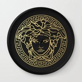 Versace/Medusa Head Logo Gold Wall Clock