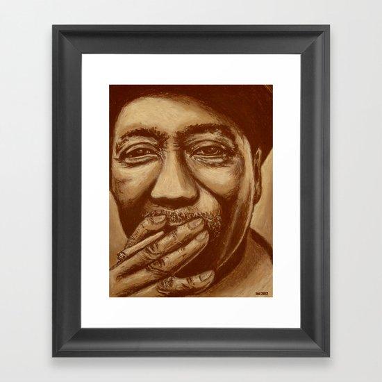 """""""mississippi man"""" Framed Art Print"""