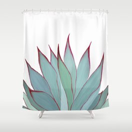 Elegant Agave Fringe Illustration Shower Curtain