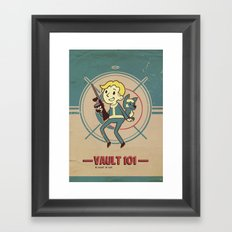 Fallout Vault Kid Framed Art Print
