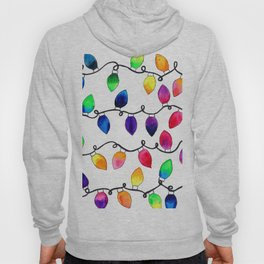 Colorful Christmas Holiday Light Bulbs Hoody