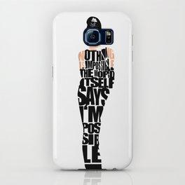 Audrey Hepburn Typography Poster iPhone Case