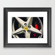 Ferrari Wheel Framed Art Print