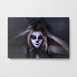 skull make up 1  Metal Print
