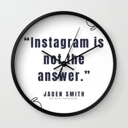 3   |  Jaden Smith Quotes | 190904 Wall Clock