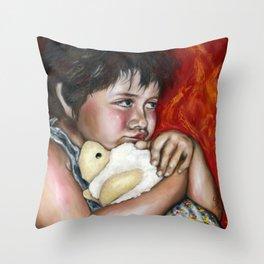 Little Fighter Throw Pillow