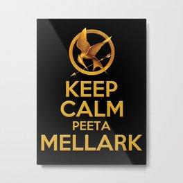 KEEP CALM PEETA MELLARK Metal Print