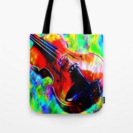 Violin Abstract Tote Bag