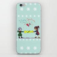 kuroshitsuji iPhone & iPod Skins featuring Ciel and Soma's Xmas by neko-productions