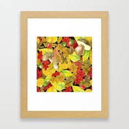 Watercolor autumn pattern Framed Art Print
