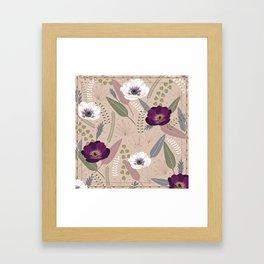 Anemones & Pearls Framed Art Print