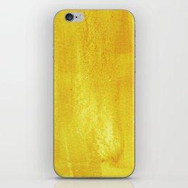 Brushed Yellow iPhone Skin