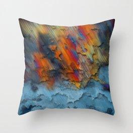 Diagonal Rainbow Redux Throw Pillow