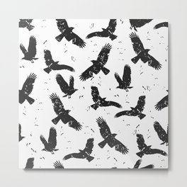 Flying Feathers Metal Print