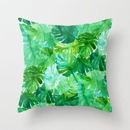 Welcome to the Jungle Palm Throw Pillow
