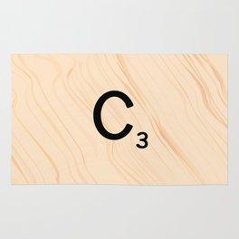 Scrabble Tile C - Large Scrabble Letters Rug