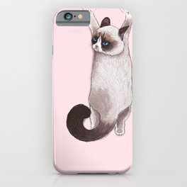 Grumpy Hang iPhone Case