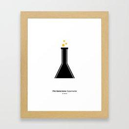 Experimental Film Genre Icon Framed Art Print