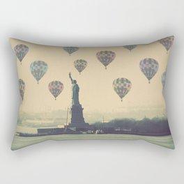 Balloons over Lady Liberty Rectangular Pillow