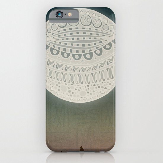 Light up the moon iPhone & iPod Case