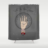 pain Shower Curtains featuring Pain Killer by A+A Noisome Art