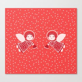 Angels on the red Canvas Print