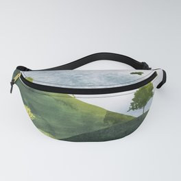 Landscape wildlife in watercolor Fanny Pack