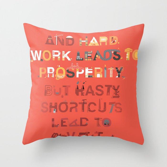 Good planning Throw Pillow