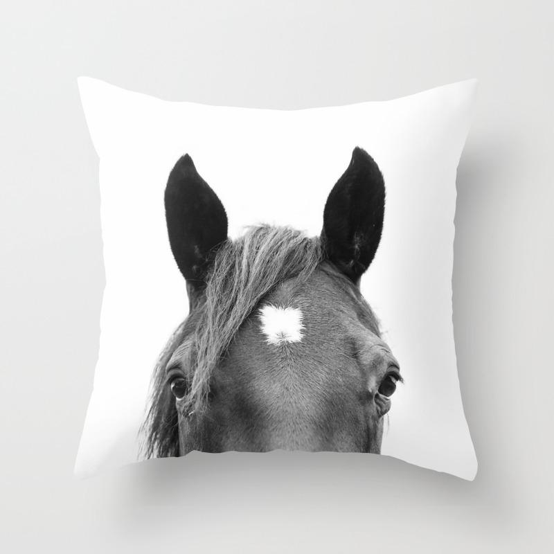 Peeking Horse Throw Pillow By Katypie Society6