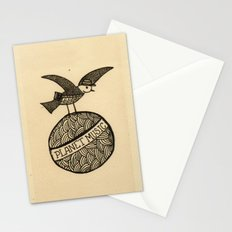 planet music Stationery Cards